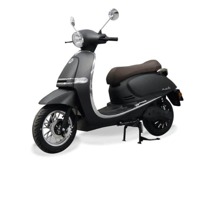 Scooter Electrique 125 Rider 5000W gris mat avant gauche