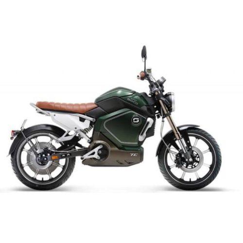 Moto électrique Super Soco TC Vert droite