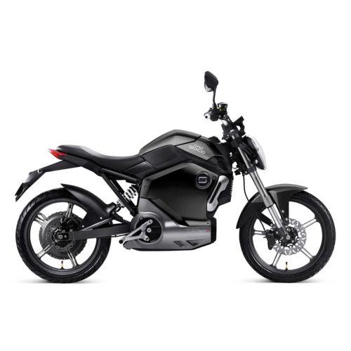 Moto électrique super soco noir profil droit zero motorcycles