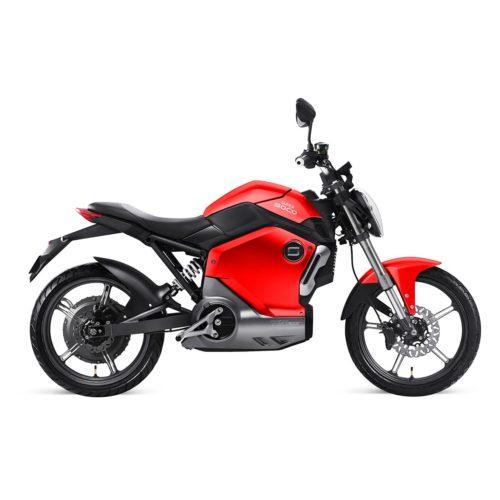 Moto électrique Super SOCO TS 1200R Rouge Zero Motorcycles droite