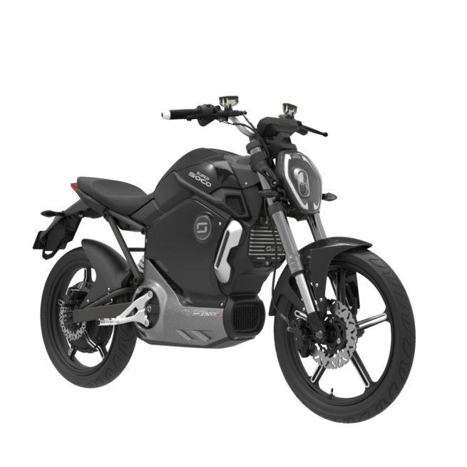 Moto Electrique Super soco TS 1200 R noir trois quart