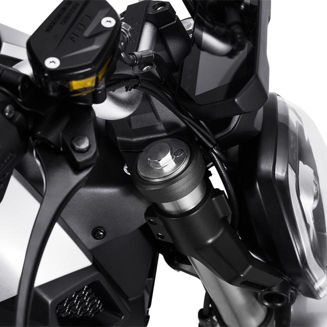 Fourche de la moto électrique super soco