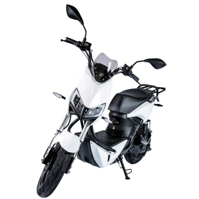 Scooter Electrique Yadea Z3 Blanc avant gauche