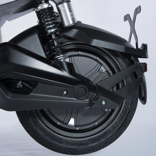 Scooter Electrique Yadea Z3 Blanc moteur