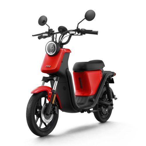 Niu U Rouge Scooter Electrique pas cher avant gauche