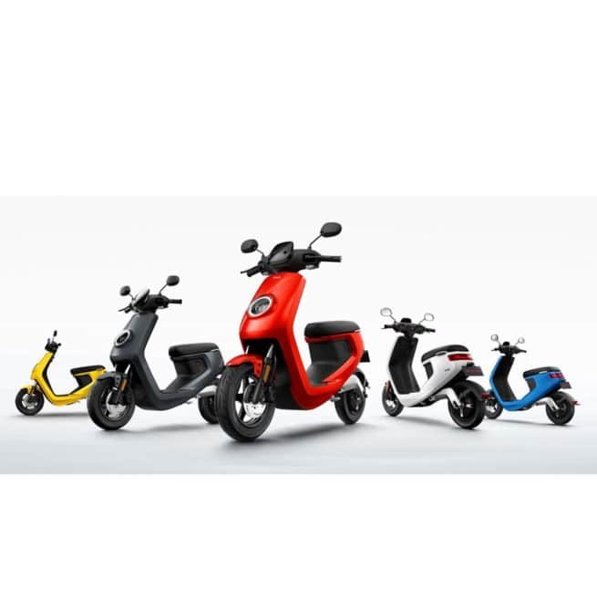 Scooter électrique NIU M1 Pro gamme complète application connectée prime écologique rechargeable autonomie jusqu'à 80km batterie lithium
