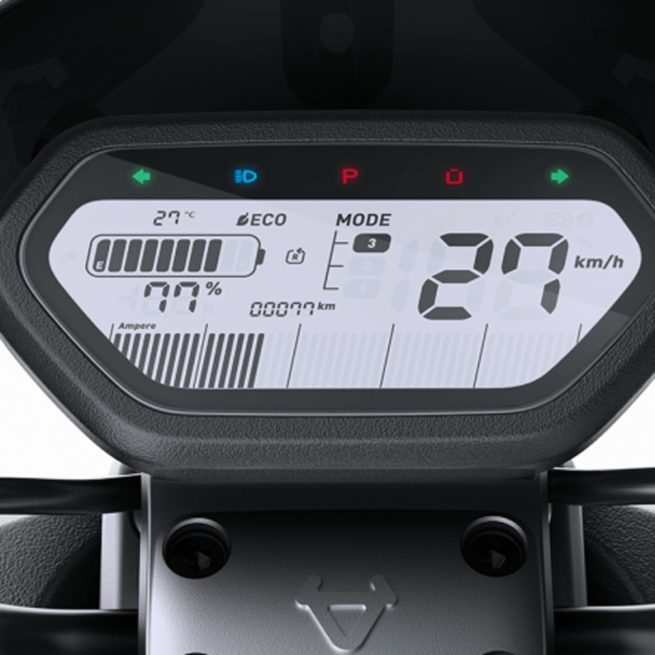 Scooter électrique Niu N1S affichage cadran batterie autonomie