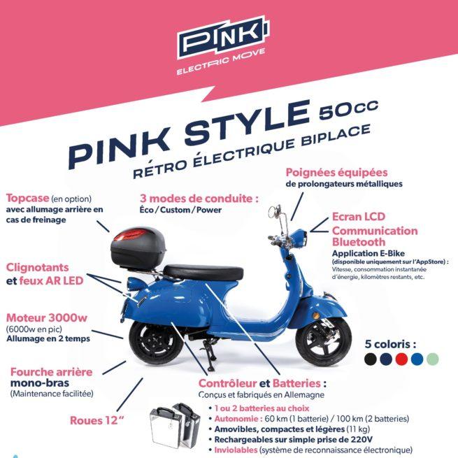 scooter électrique pink style