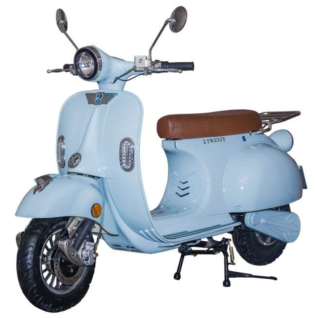 Scooter électrique 2Twenty Roma bleu