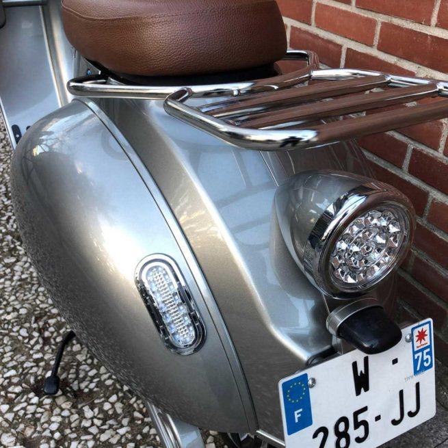 Scooter Electrique 2Twenty Roma Gris Retro Arrière
