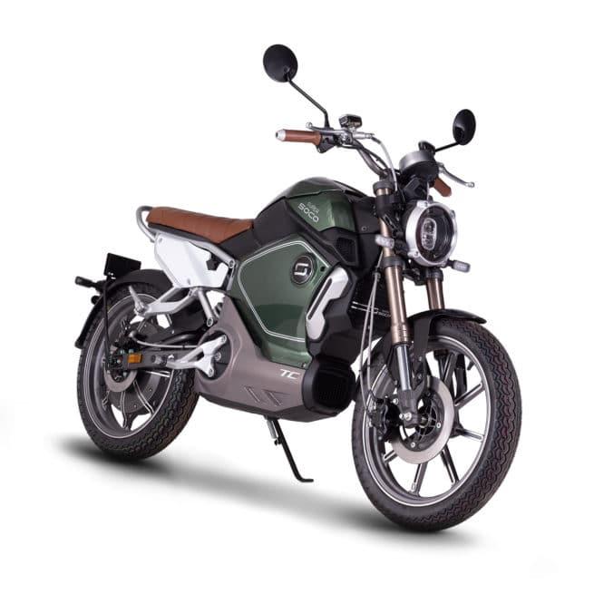 super soco tc moto electrique vintage silencieuse sans bruit silence