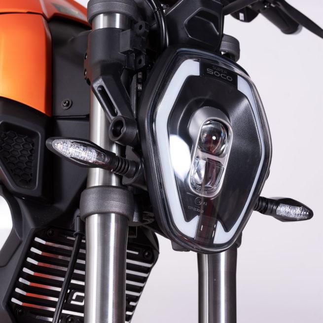 super soco ts moto electrique roadster frein à disque