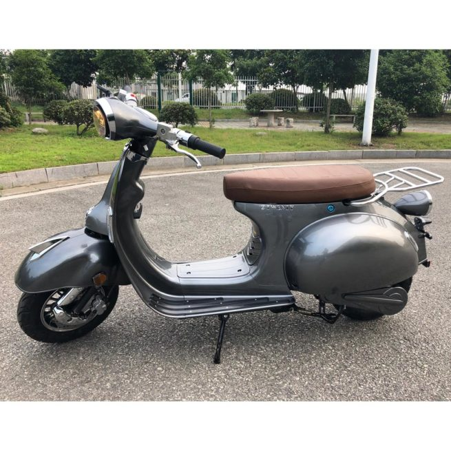 Scooter Vespa Electrique 2Twenty Retro Gris argenté version 2018