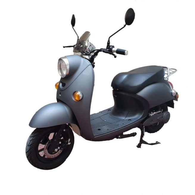 Scooter Electrique Rider 1500W Frison Gris mat face avant gauche