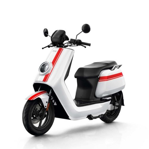 Scooter Electrique 125 NIU NGT Blanc Rouge