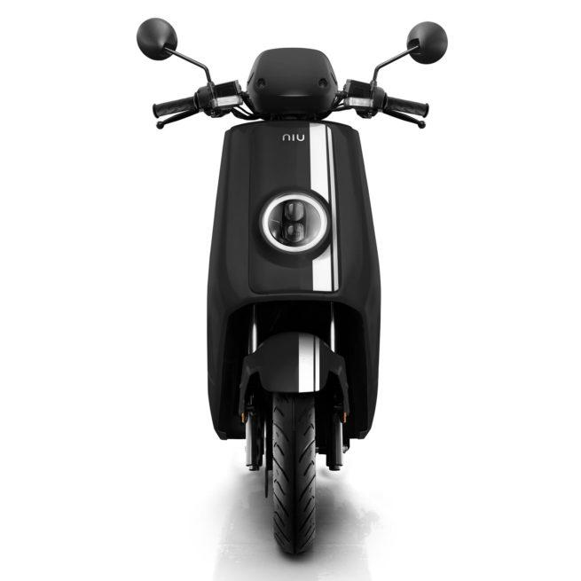 Scooter Electrique 125 Niu NGT Noir Blanc avant
