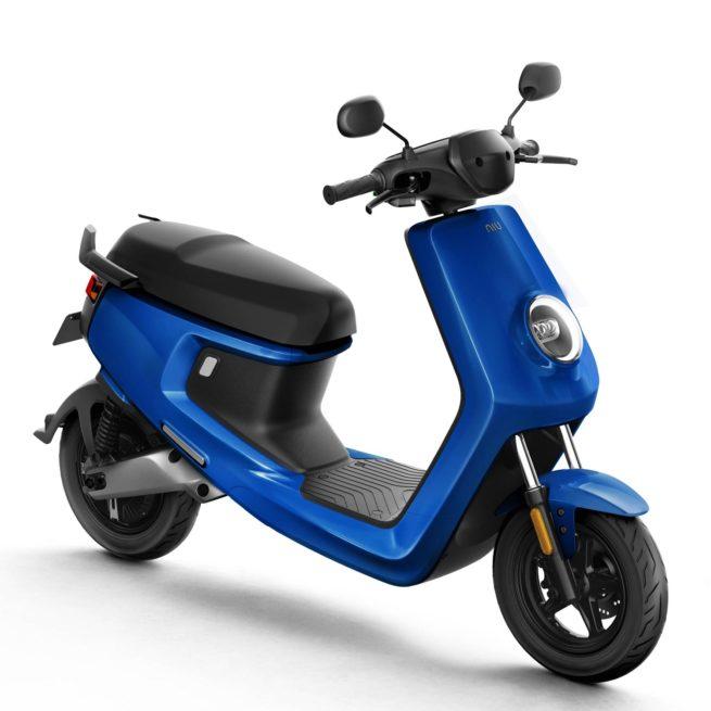 Scooter Electrique NIU M+ bleu avant droite