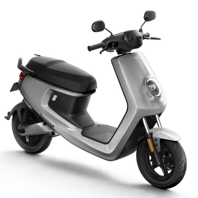 Scooter Electrique NIU M+ gris avant droite