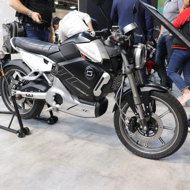 Moto électrique super soco TC MAX jantes alu
