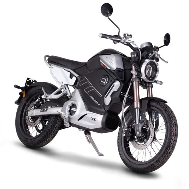 super soco tc max moto electrique vintage autoroute 100 km/h 90 km/h
