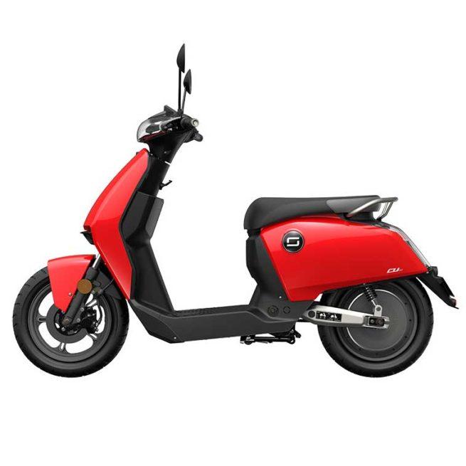 Scooter Electrique CUX Super Soco Rouge Gauche