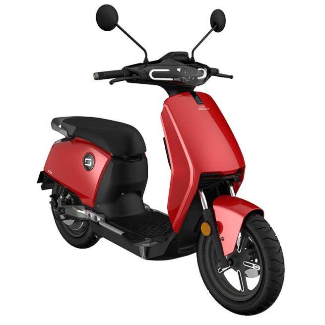 Scooter Electrique Super Soco CU-X Rouge Trois Quart droite