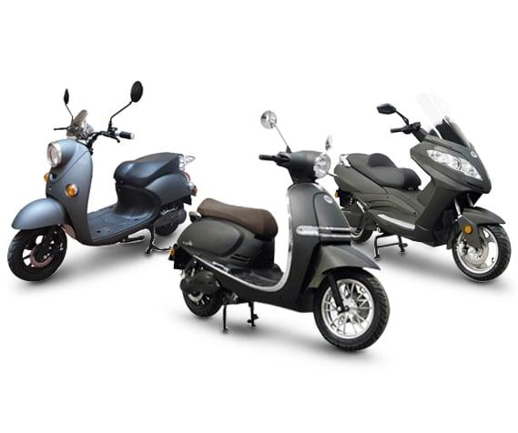 Les 3 scooters de la gamme Rider