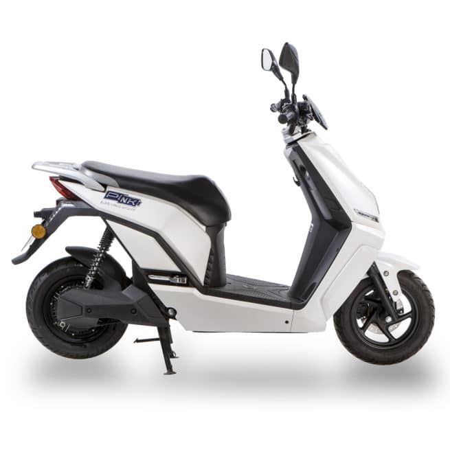 Scooter électrique Pink Mobility Pink Me blanc profil