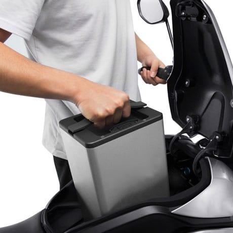 moto électrique à batterie amovible