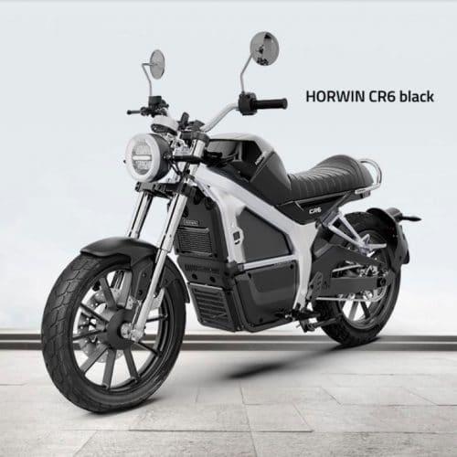 moto électrique look rétro horwin noire