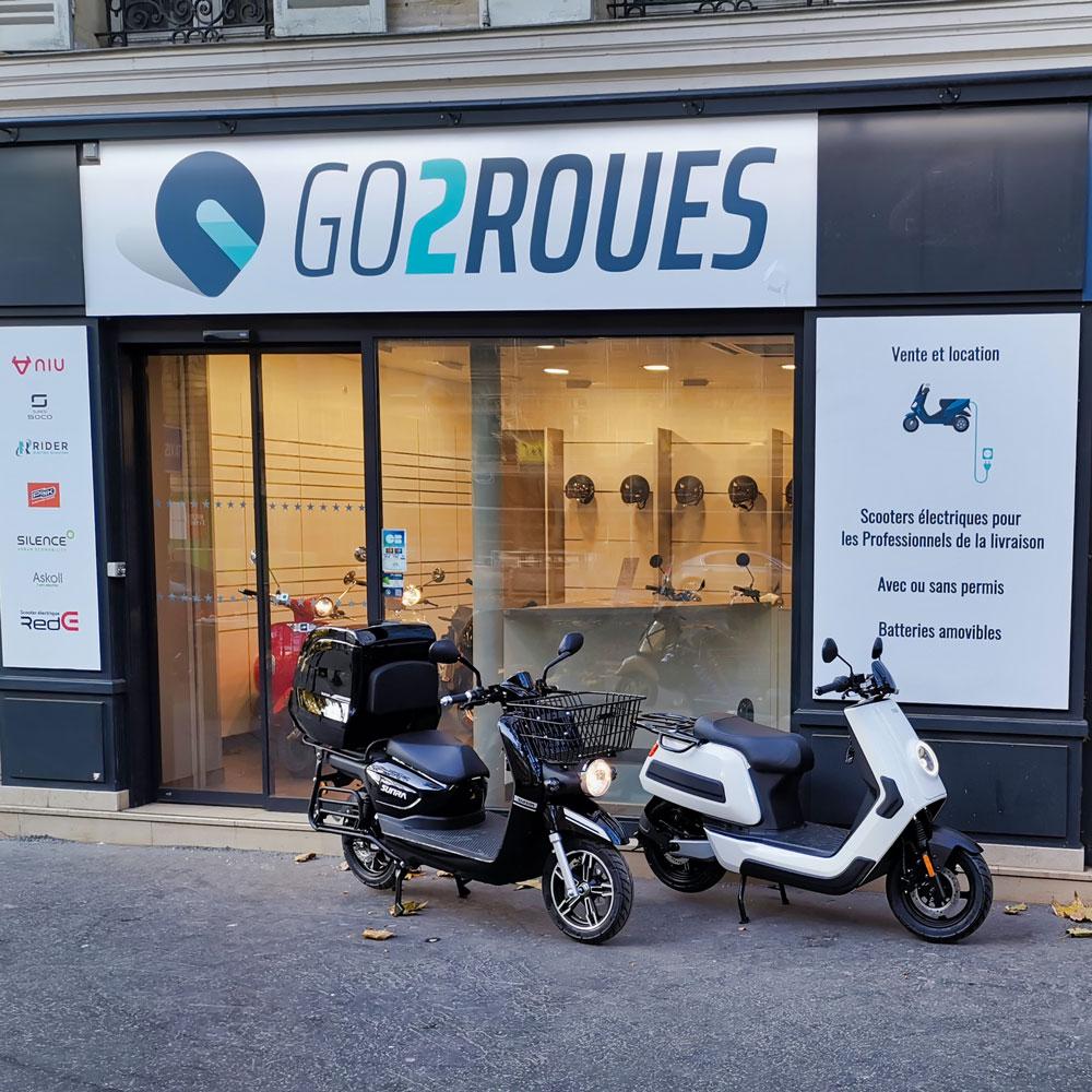 Showroom dédié Pro GO2ROUES rue de Courcelles