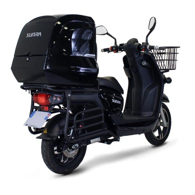 Sunra Cagoo scooter électrique coursier top box top case