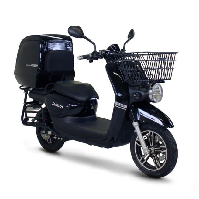 Sunra Cagoo scooter électrique dépanneur dépannage coursier panier livraison pizza