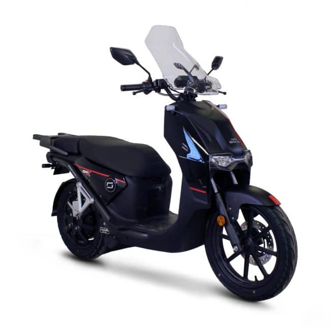 Super Soco CPX scooter electrique top case