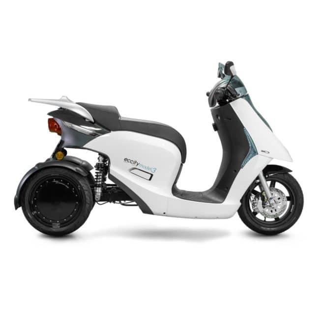 eccity model 3 roues scooter électrique trois roues stable sécurité freinage