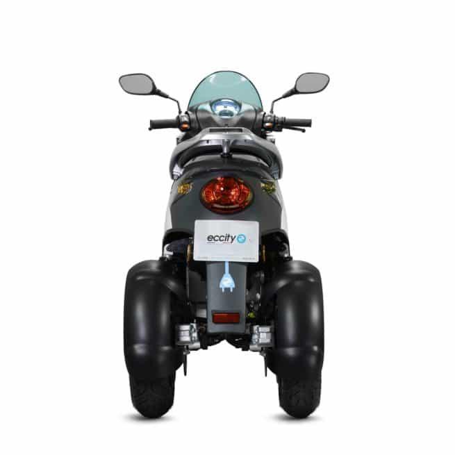 eccity model 3 roues scooter électrique trois roues jeune femmme homme pratique léger maniable