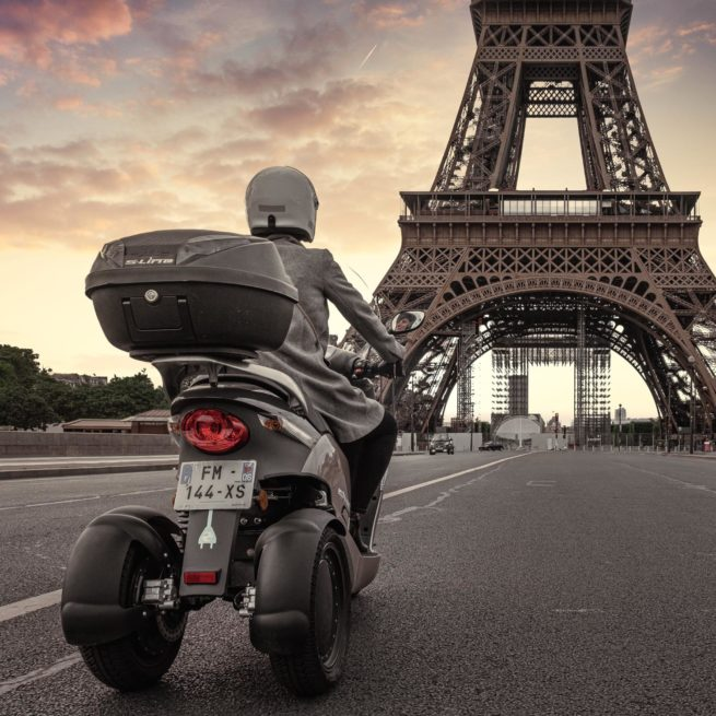 eccity model 3 roues scooter électrique trois roues fiable stable made in france