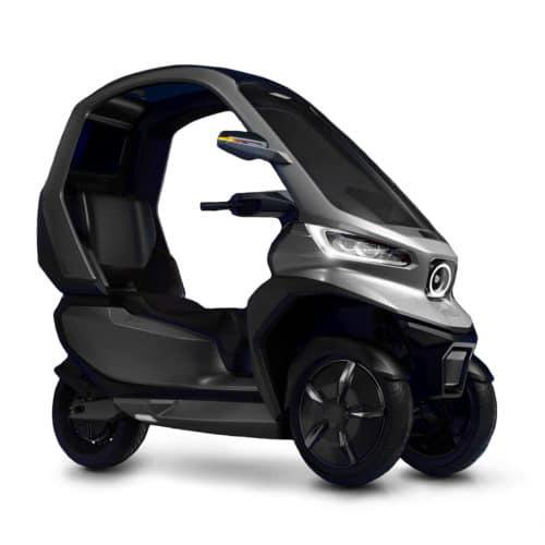 scooter electrique Niu TQi GT 3 roues avec toit vue de côté