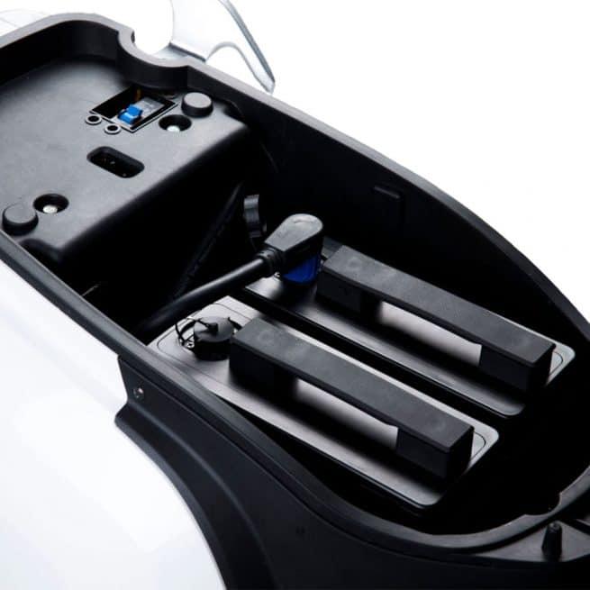 pack batteries amovibles sous la selle