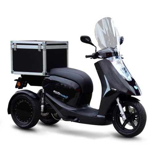 eccity model 3 roues scooter électrique trois roues de livraison top box paris lille nantes lyon marseille rennes bordeaux cannes pau