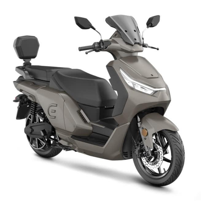 red electric e100 champagne scooter électrique grande autonomie gps intégré