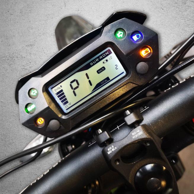 sur ron light bee compteur digital motocross électrique
