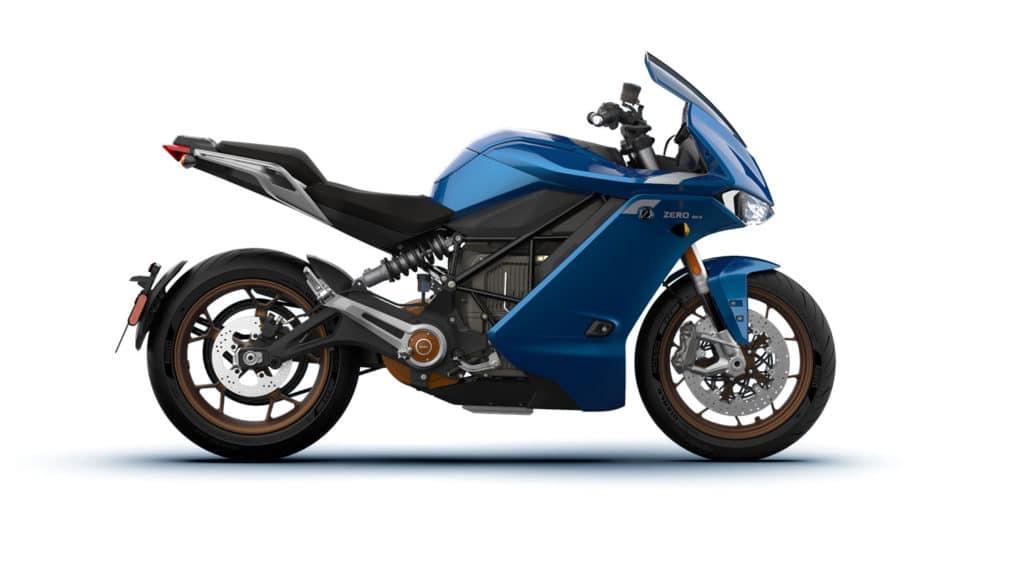 Zero Motorcycles SR/S côté droit sur fond blanc
