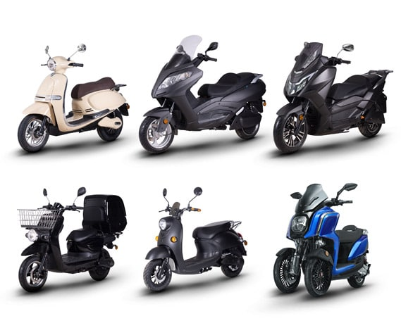 gamme scooters électriques Rider 3000W 5000W 9000W NG Pro Cargo 1500W 3R