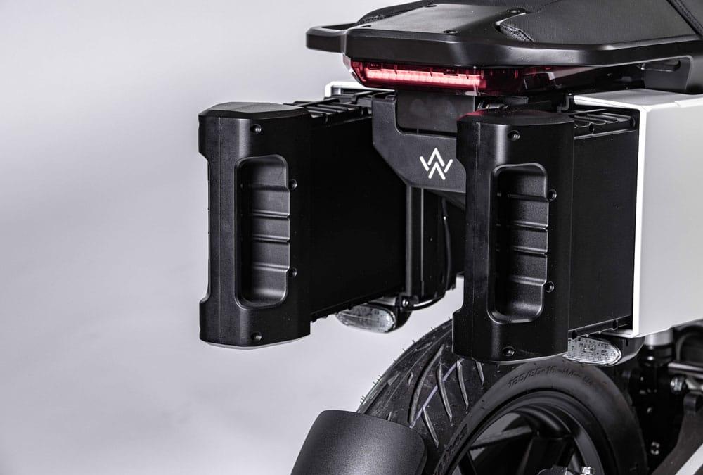 wow model 4 scooter électrique batterie sacoche