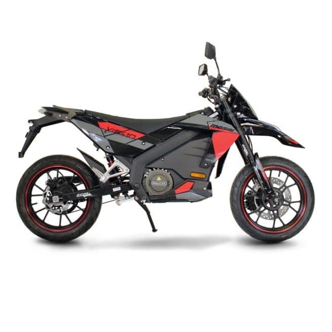 Masai Vison 5000W moto electrique supermotard 125 cm3 bonne accélération gros moteur puissant derbi gilera aprilia