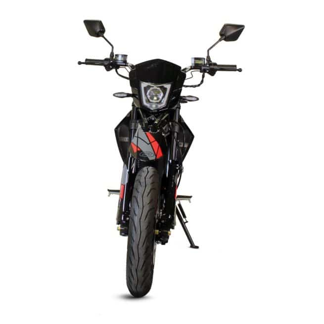 Masai Vison 5000W moto electrique supermotard jeune femmme homme pratique léger maniable