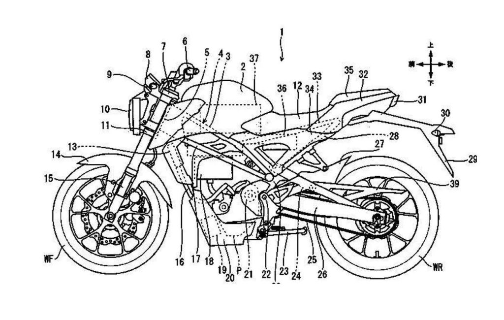honda prototype cb125r moto électrique dessins