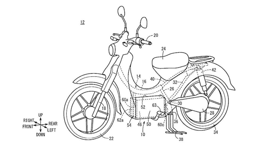 Brevet de Honda sur une version électrique de son Super Cub 125.