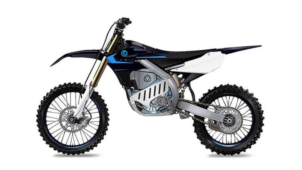 Prototype de motocross électrique de chez Yamaha.